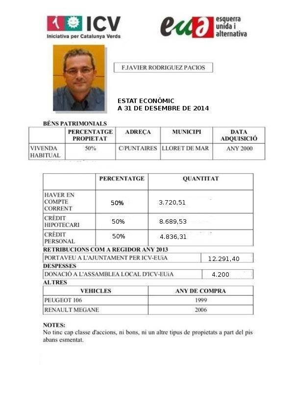 declaración bienes 2014 Xavi