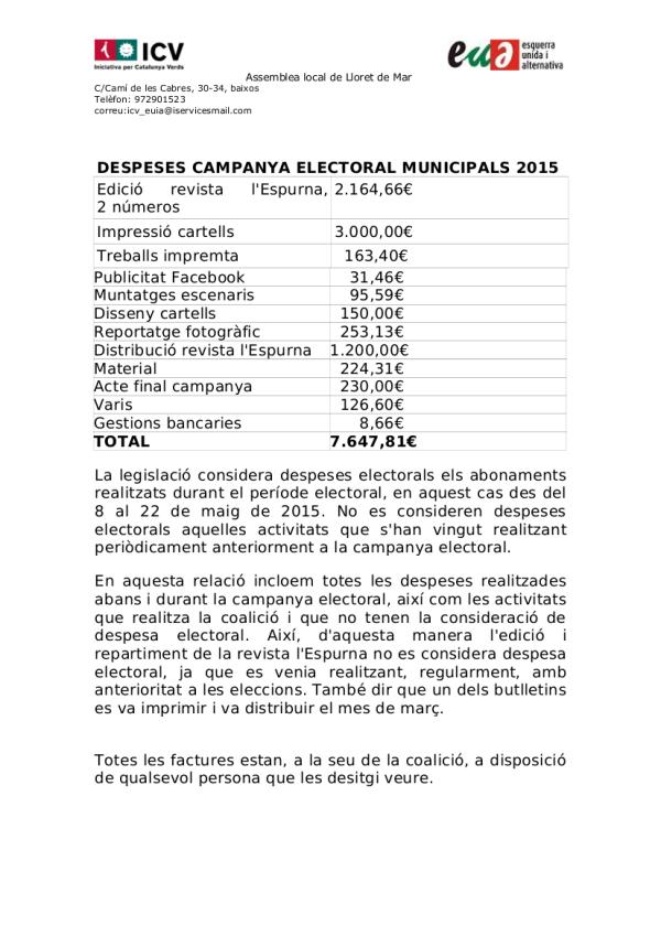 gastos municipales 2015